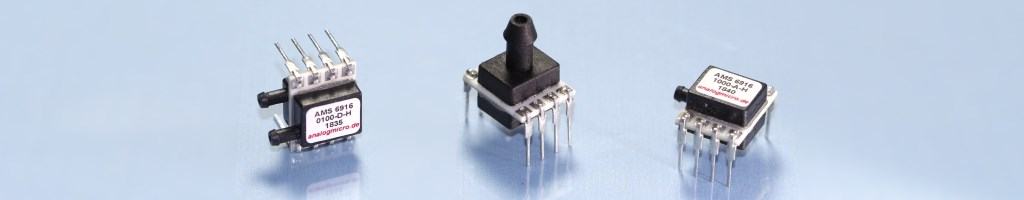 Different types of Mini Pressure Sensor with Analog Output (0.5 - 4.5 V).